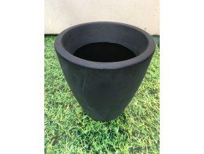Květináč Violeta 30, lehký plastový květináč, barva černá.