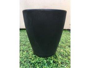 Květináč Violeta 40, lehký plastový květináč, barva černá.