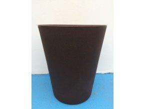 Květináč Gerbera 45, lehký plastový květináč, barva čokoláda.