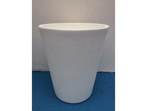 Květináč Gerbera 45, lehký plastový květináč, barva bílá.