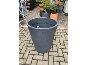 Květináč Gerbera 50, lehký plastový květináč, barva černá rustico