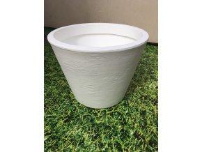 Květináč Petunia 36, lehký plastový květináč, barva rustico bílá.