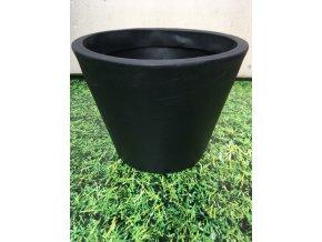 Květináč Petunia 36, lehký plastový květináč, barva rustico černá.