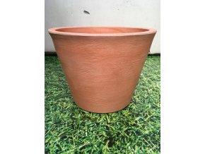 Květináč Petunia 36, lehký plastový květináč, barva rustico terracota