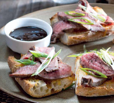 Flank steak s balzamikovou omáčkou