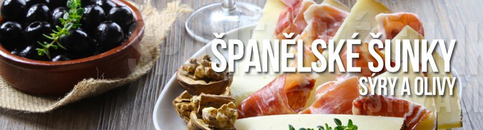 Španělské šunky a sýry