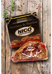 Dárkové balení šunky Jamón Serrano Nico
