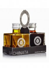 Gift set of olive oil Extra Virgin and vinagre La Chinata