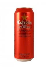 Španělské pivo ESTRELLA DAMM 500ml