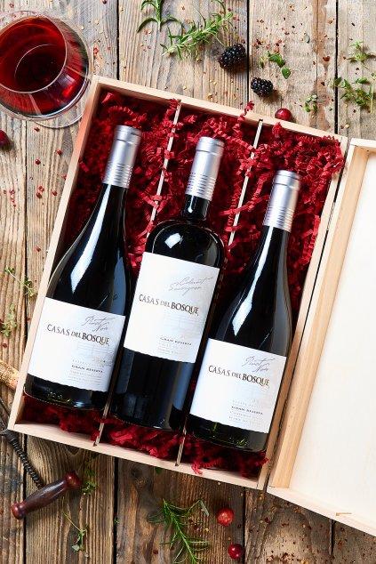 Dárkové balení vín Casas del Bosque -  3 láhve