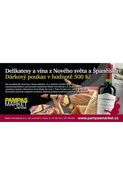Dárková poukázka na vína a delikatesy v hodnotě 500Kč