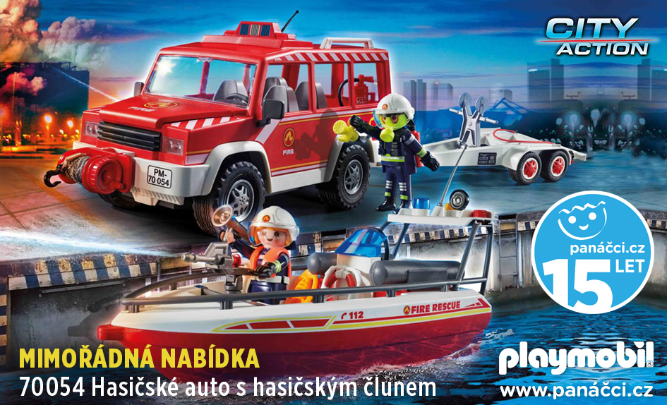 70054 Hasičské auto s hasičským člunem