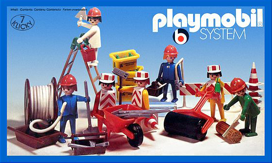 PLAYMOBIL retro stavbaři