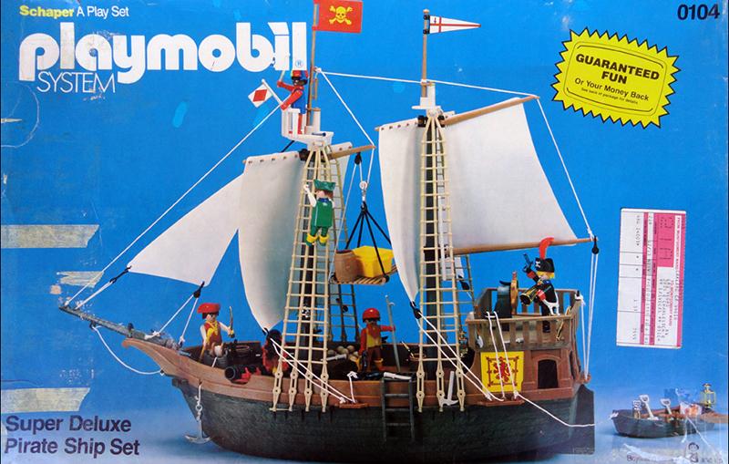 PLAYMOBIL retro pirátská loď