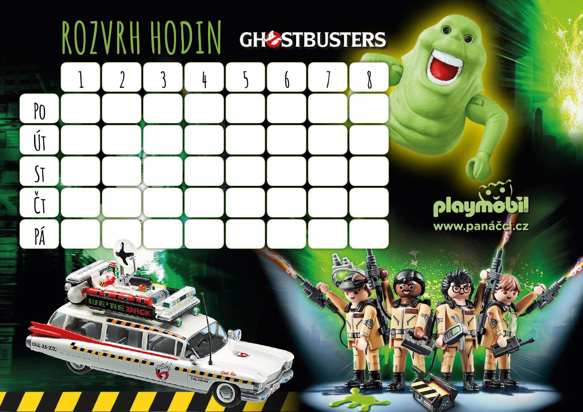 Rozvrh hodin PLAYMOBIL Ghostbusters