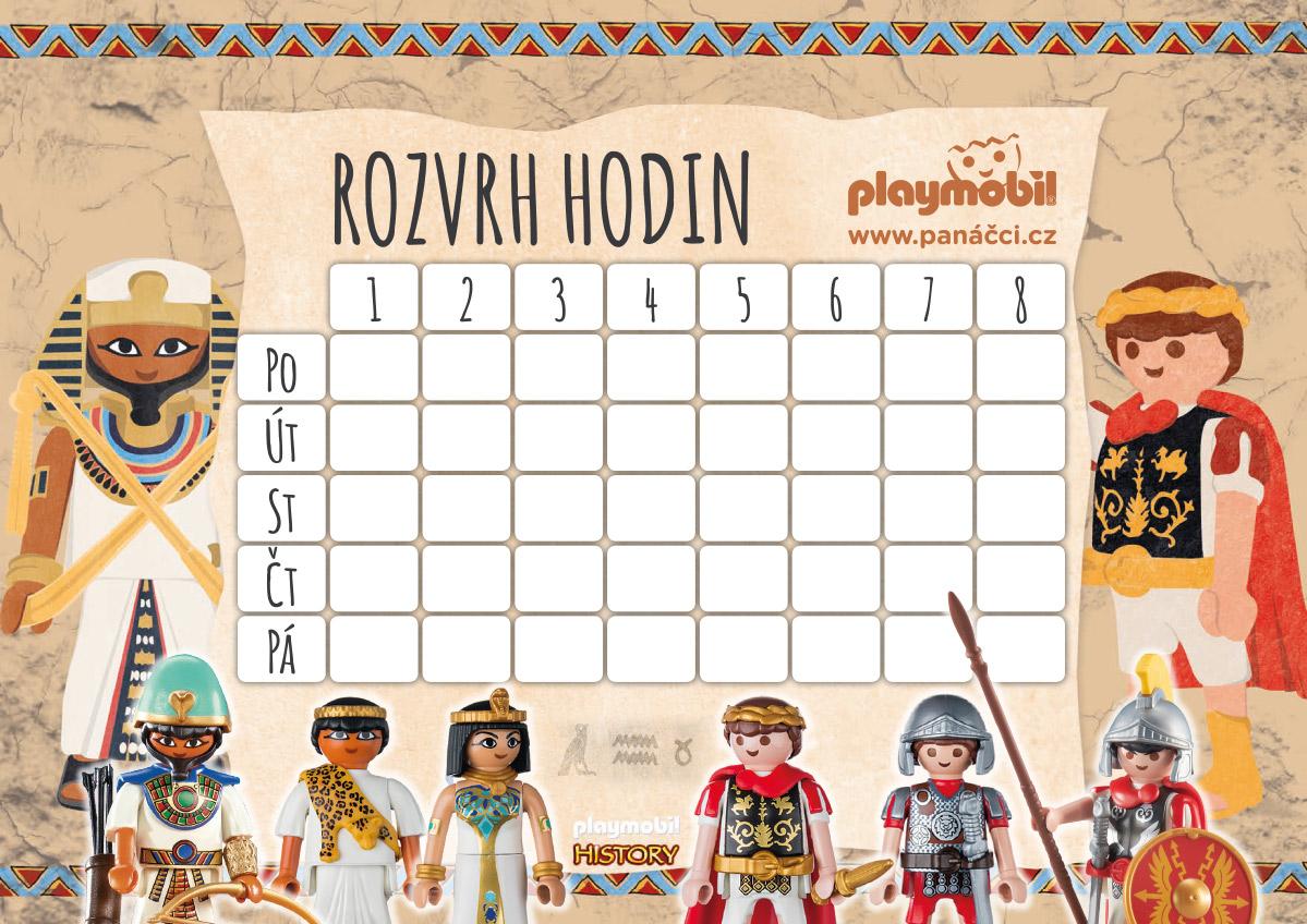 Rozvrh hodin PLAYMOBIL History