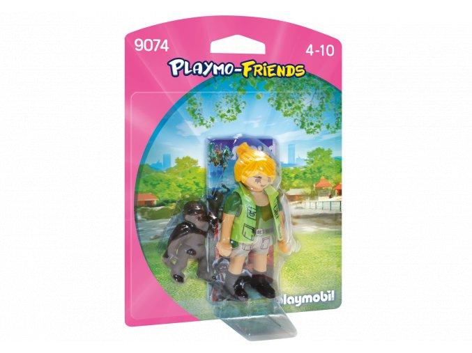 Playmobil 9074 Ošetřovatelka s gorilím mládětem