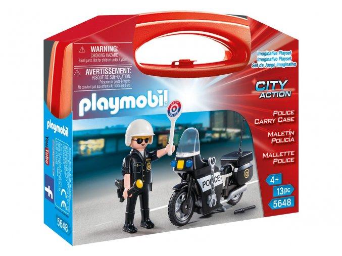 Playmobil 5648 Přenosný box - Policista s motorkou