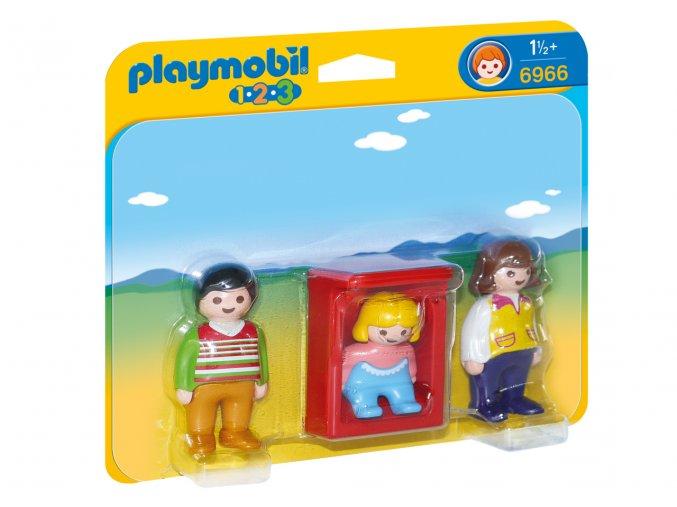 Playmobil 6966 Rodiče s kolébkou 1.2.3