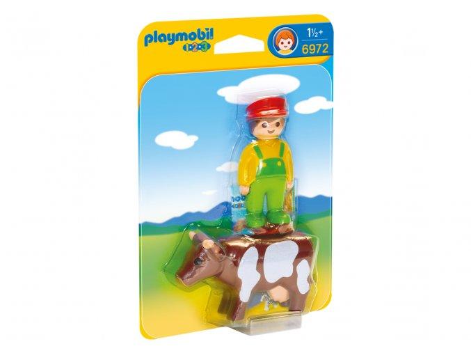 Playmobil 6972 Farmář s kravičkou 1.2.3