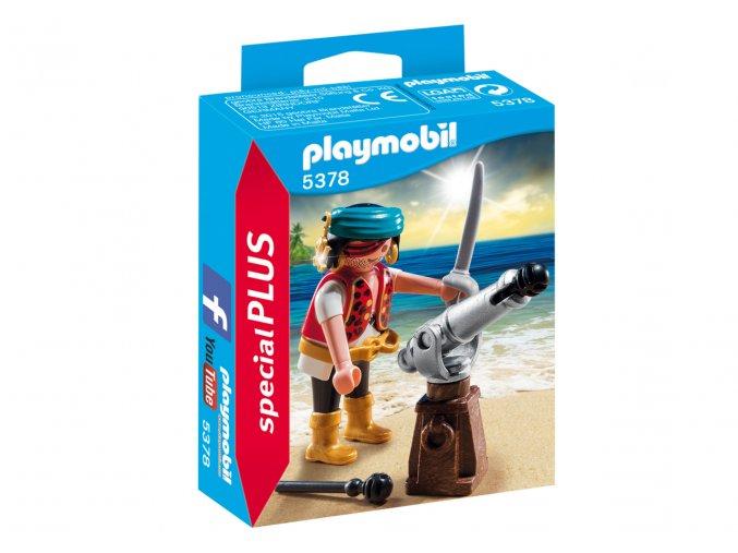 Playmobil 5378 Pirát s kanónem