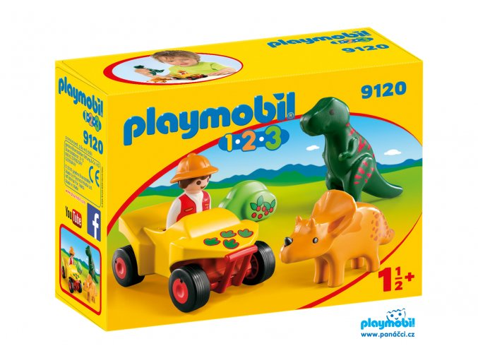 Playmobil 9120 Lovec dinosaurů 1.2.3