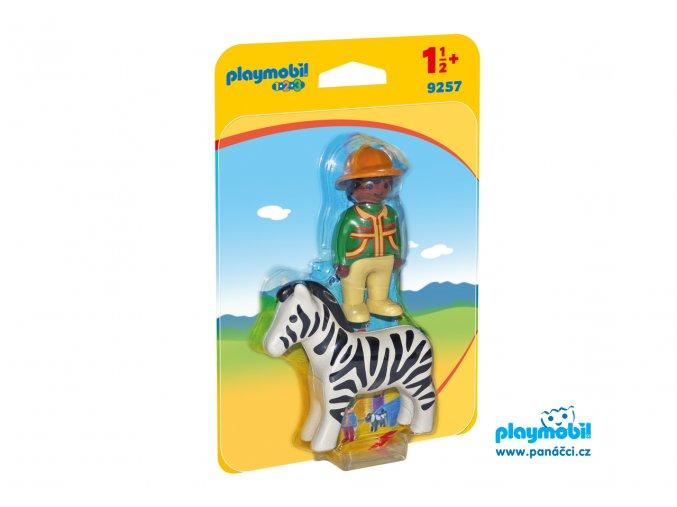 Playmobil 9257 Lovec se zebrou
