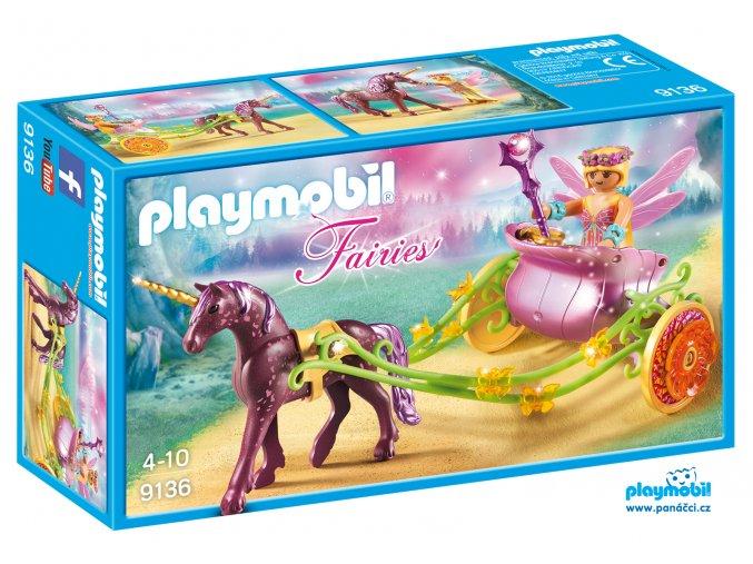 Playmobil 9136 Květinová víla a kočár tažený jednorožcem