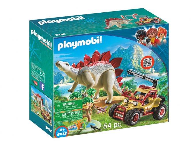 Playmobil 9432 Výzkumné auto se stegosaurem