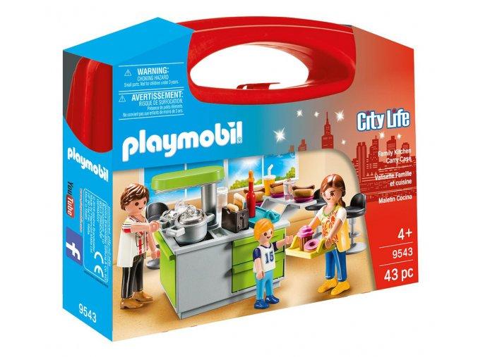 Playmobil 9543 Přenosný box velký - Rodinná kuchyně