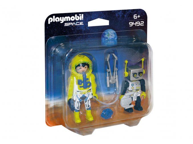 Playmobil 9492 Duo Pack kosmonaut a robot