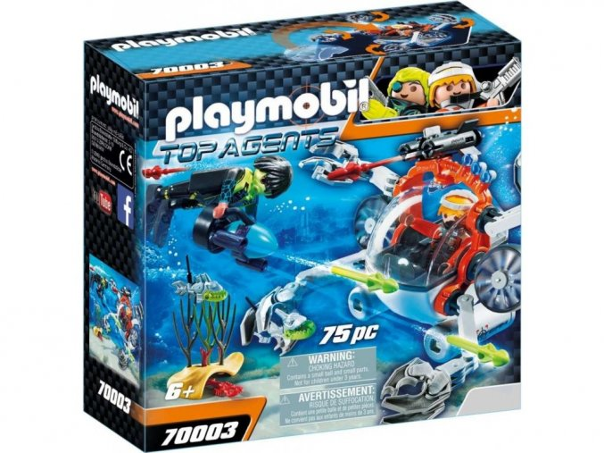 Playmobil 70003 SPY TEAM Ponorka