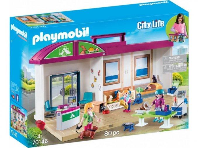 Playmobil 70146 Přenosná veterinární klinika