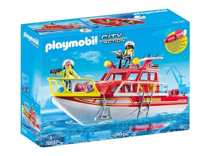 Playmobil 70147 Hasičský záchranný člun