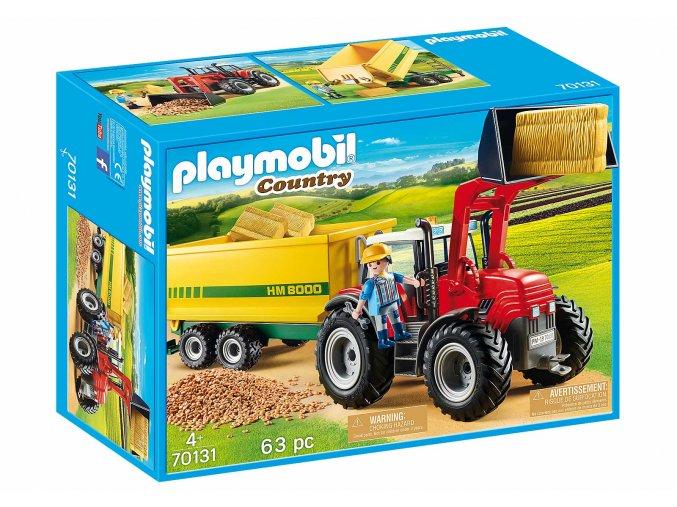 Playmobil 70131 Velký traktor s přívěsem