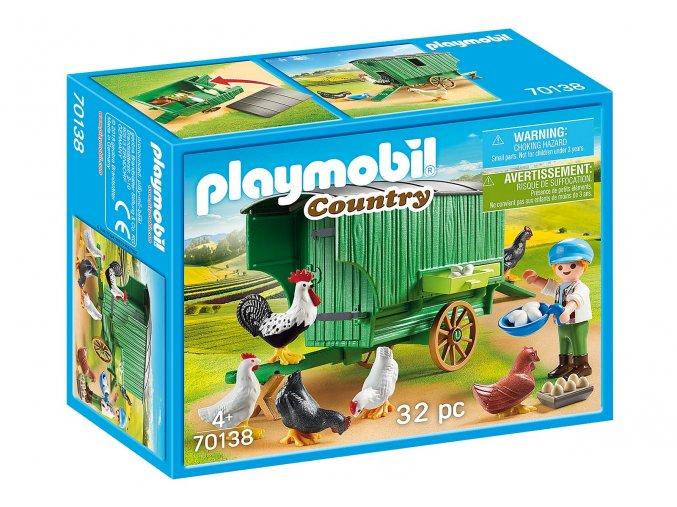 Playmobil 70138 Pojízdný kurník
