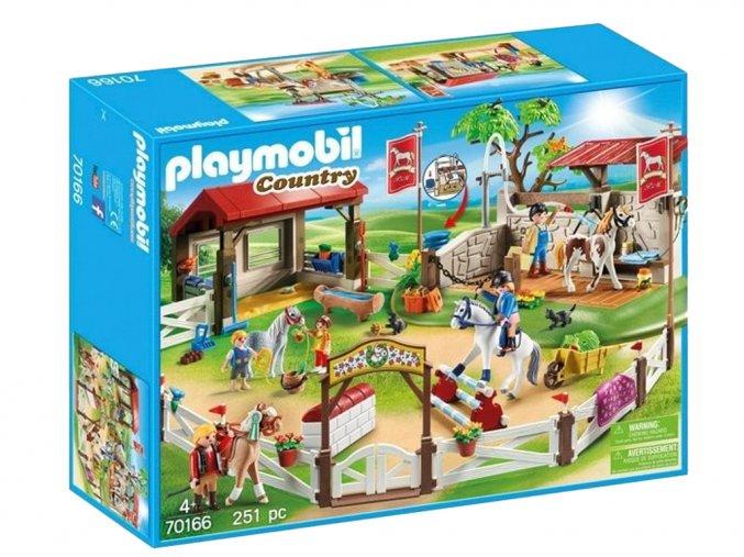 Playmobil 70166 Velký parkur pro koně s mycím boxem
