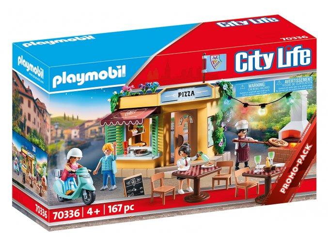 Playmobil 70336 Pizzerie se zahrádkou