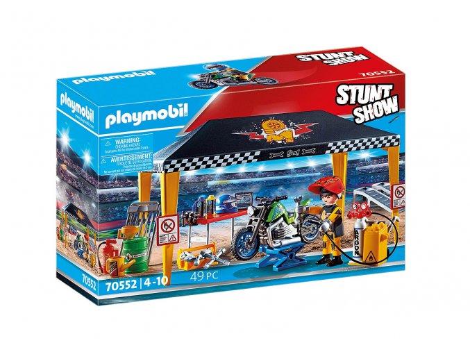 Playmobil 70552 Kaskadérská show Servisní stan