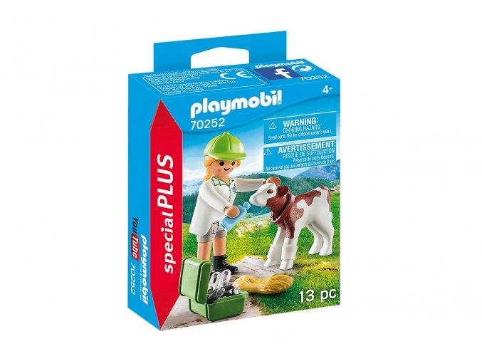 Playmobil 70252 Zvěrolékařka s telátkem