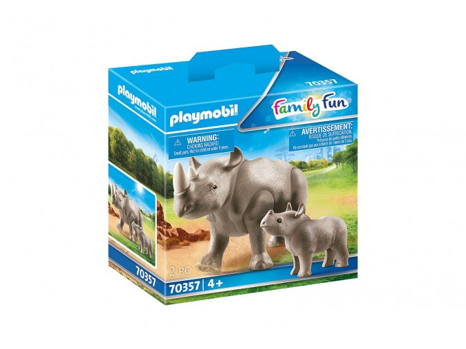 Playmobil 70357 Nosorožec s mládětem
