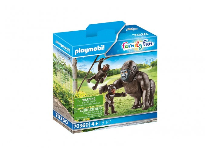 Playmobil 70360 Gorila s mláďaty