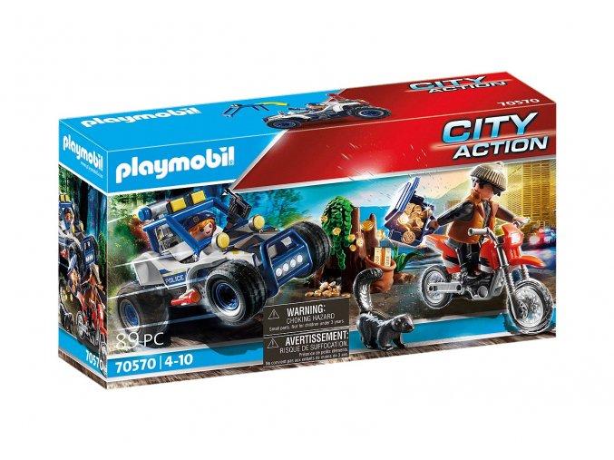 Playmobil 70570 Policejní SUV: Pronásledování lupiče pokladu
