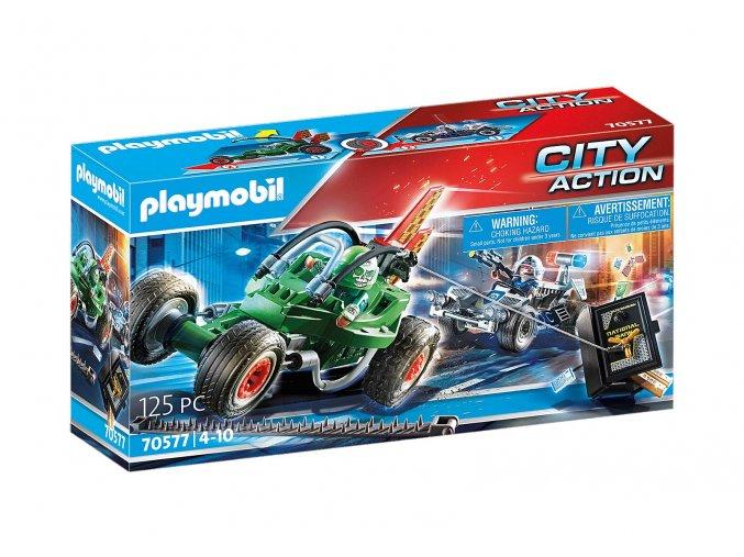 Playmobil 70577 Policejní motokára: Pronásledování lupiče trezoru