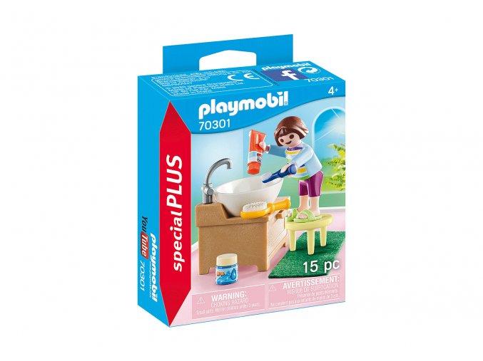 Playmobil 70301 Děvčátko při čištění zoubků