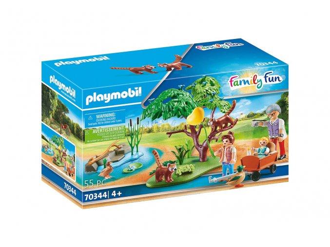 Playmobil 70344 Pandy červené ve venkovním výběhu