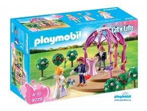 Playmobil 9229 Svatební altán s nevěstou a ženichem