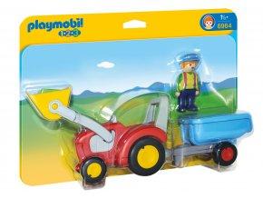 Playmobil 6964 Traktor s přívěsem 1.2.3