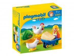 Playmobil 6965 Farmářka s kuřaty 1.2.3