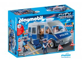 Playmobil 9236 Policejní anton se zátarasy